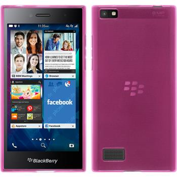 Silikonhülle für BlackBerry Leap transparent rosa