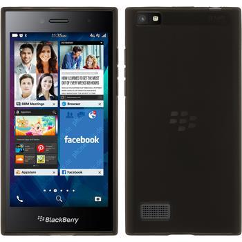 Silikonhülle für BlackBerry Leap transparent schwarz
