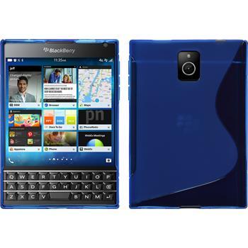Silikon Hülle Q30 S-Style blau