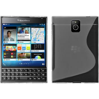 Silikonhülle für BlackBerry Q30 S-Style clear