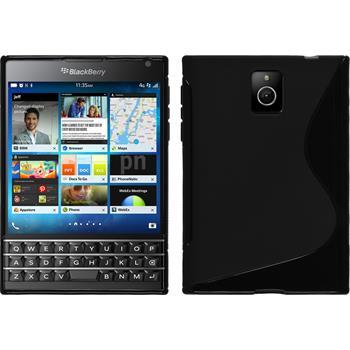 Silikonhülle für BlackBerry Q30 S-Style schwarz