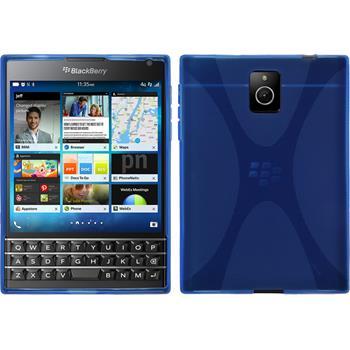 Silikon Hülle Q30 X-Style blau