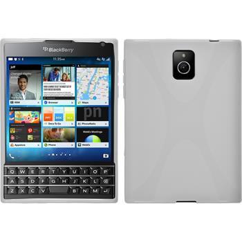 Silikonhülle für BlackBerry Q30 X-Style weiß
