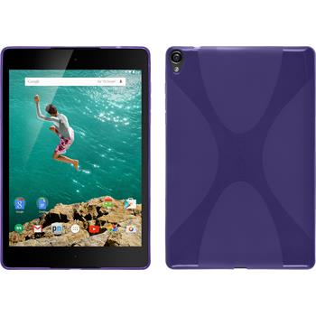 Silicone Case for Google HTC Nexus 9 X-Style purple