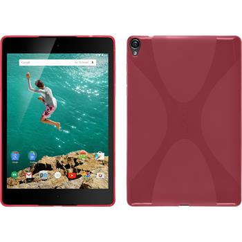 Silicone Case for Google HTC Nexus 9 X-Style hot pink
