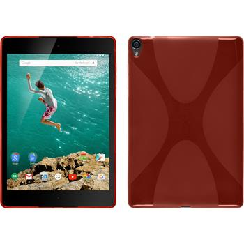 Silicone Case for Google HTC Nexus 9 X-Style red