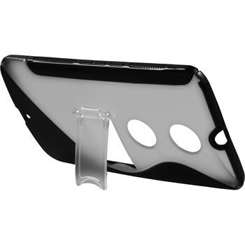 Silikon Hülle Nexus 6 Aufstellbar schwarz
