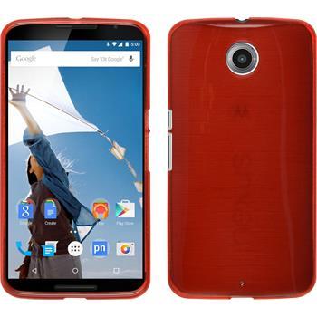 Silikon Hülle Nexus 6 brushed rot