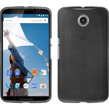Silikon Hülle Nexus 6 brushed silber