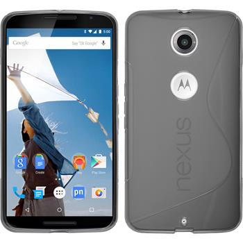 Silikon Hülle Nexus 6 S-Style grau
