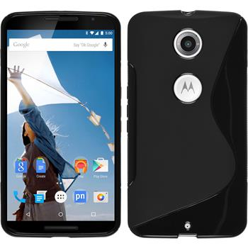 Silikon Hülle Nexus 6 S-Style schwarz