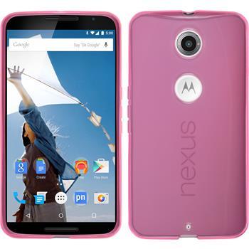Silikon Hülle Nexus 6 transparent rosa