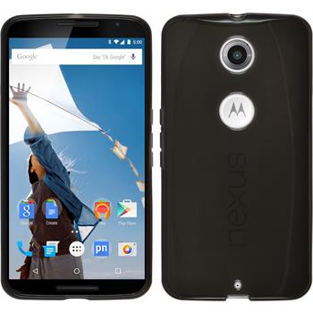 Silikon Hülle Nexus 6 transparent schwarz Case