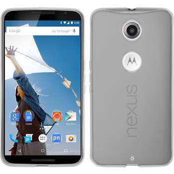 Silikon Hülle Nexus 6 transparent weiß