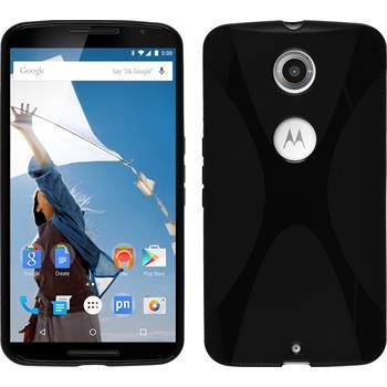 Silikon Hülle Nexus 6 X-Style schwarz