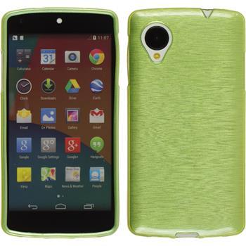 Silikon Hülle Nexus 5 brushed pastellgrün