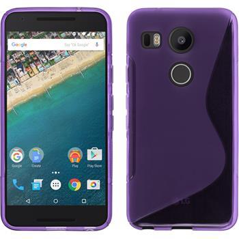 Silikon Hülle Nexus 5X S-Style lila