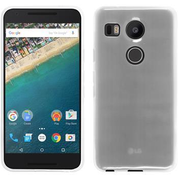 Silikon Hülle Nexus 5X transparent weiß