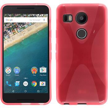 Silikon Hülle Nexus 5X X-Style rot