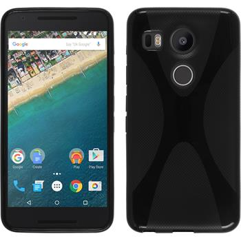 Silikon Hülle Nexus 5X X-Style schwarz