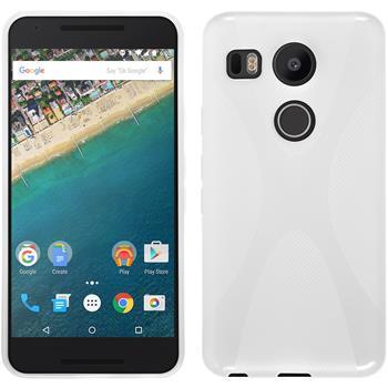 Silikon Hülle Nexus 5X X-Style weiß