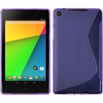 Silicone Case for Google Nexus 7 2013 S-Style purple