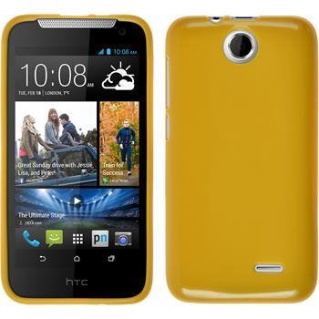 Silikonhülle für HTC Desire 310 Candy gelb