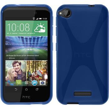 Silikon Hülle Desire 320 X-Style blau