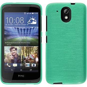 Silikonhülle für HTC Desire 326G brushed grün