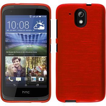 Silikonhülle für HTC Desire 326G brushed rot