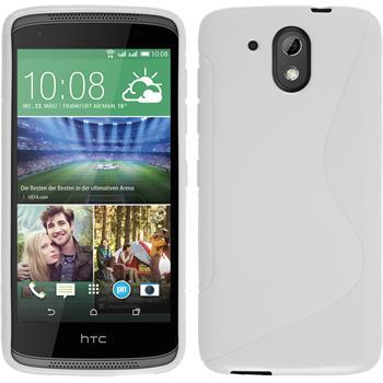 Silikonhülle für HTC Desire 326G S-Style weiß