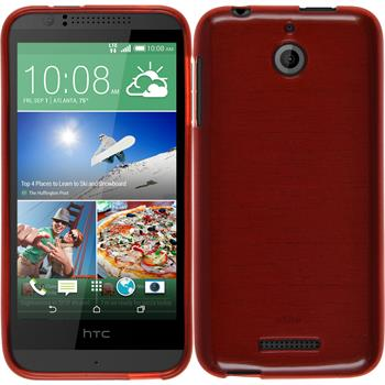 Silikonhülle für HTC Desire 510 brushed rot