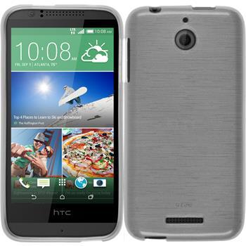 Silikonhülle für HTC Desire 510 brushed weiß