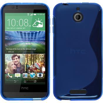 Silikon Hülle Desire 510 S-Style blau