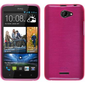Silikonhülle für HTC Desire 516 brushed pink