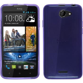 Silikonhülle für HTC Desire 516 transparent lila