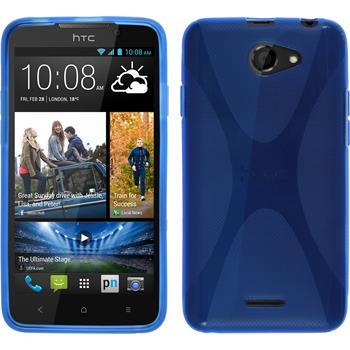 Silikon Hülle Desire 516 X-Style blau