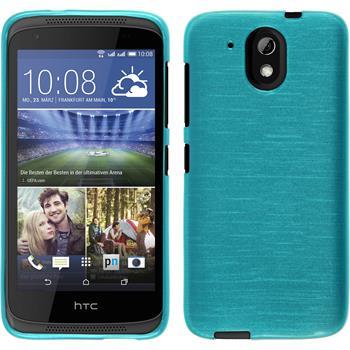 Silikon Hülle Desire 526G+ brushed blau