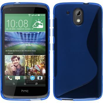 Silikon Hülle Desire 526G+ S-Style blau