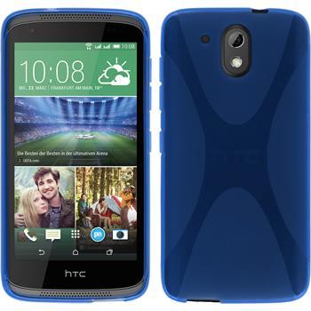 Silikonhülle für HTC Desire 526G+ X-Style blau