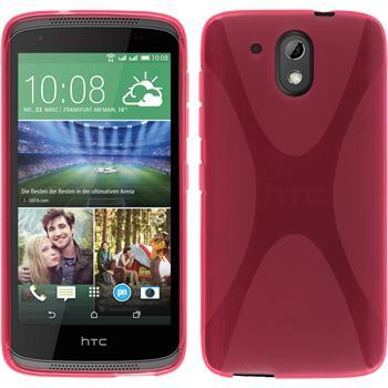 Silikonhülle für HTC Desire 526G+ X-Style pink