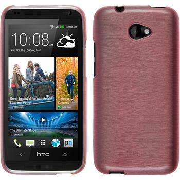Silikonhülle für HTC Desire 601 brushed rosa