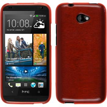 Silikonhülle für HTC Desire 601 brushed rot