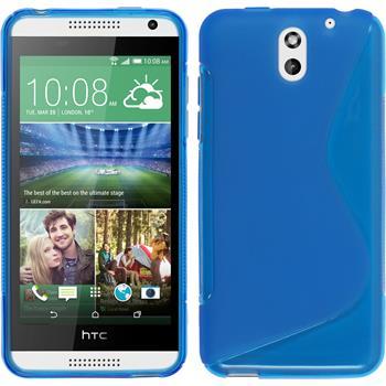 Silikon Hülle Desire 610 S-Style blau