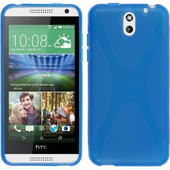 Silikon Hülle Desire 610 X-Style blau
