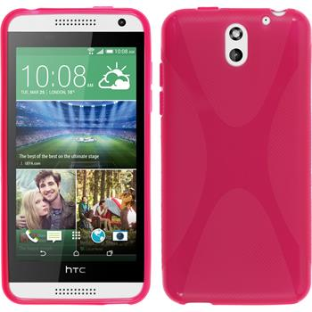 Silicone Case for HTC Desire 610 X-Style hot pink
