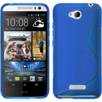 Silicone Case for HTC Desire 616 S-Style blue