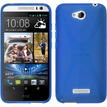 Silikon Hülle Desire 616 X-Style blau
