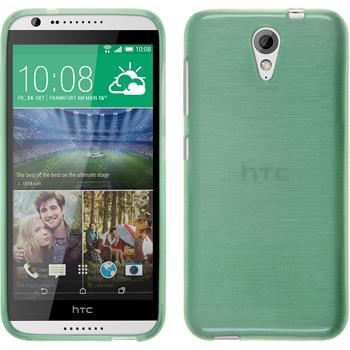 Silikonhülle für HTC Desire 620 brushed grün