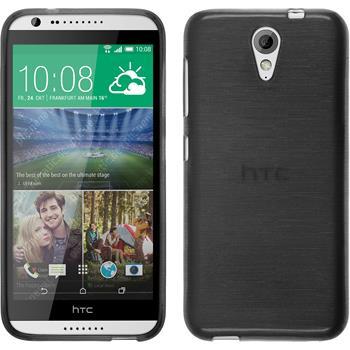 Silikonhülle für HTC Desire 620 brushed silber